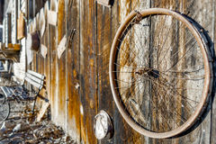 Wheel Fence Decay Stock Images