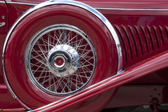 Wheel on fender Royalty Free Stock Images