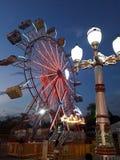 Wheel wheelon a Ferris wheel, on a very cool day. stock photography