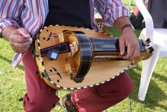 Wheel fiddle. Hurdy-gurdy. Royalty Free Stock Photography