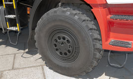 Wheel in Fire truck Royalty Free Stock Photo