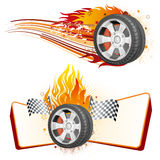 wheel and flame Stock Photo