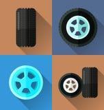 Wheel flat design Royalty Free Stock Photos