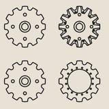 Sprocket wheel vector icon Royalty Free Stock Photos