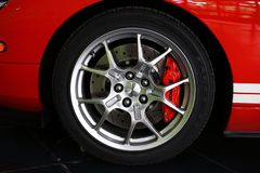 Wheel of Ford FT40 Royalty Free Stock Photos