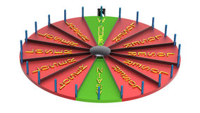 Wheel of fortune royalty free stock images