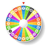 Wheel of fortune. Vector illustration of a wheel of fortune vector illustration