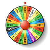 Wheel of fortune. Vector illustration royalty free illustration
