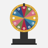 Wheel of fortune with business icons set. Vector Stock Photos