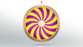 Wheel fortune with candy style. The wheel of fortune or Lucky spin animation was created by Three Dimensional. Video is included the alpha channel and motion Royalty Free Illustration