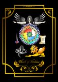 Wheel of fortune card stock illustration