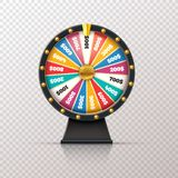 Wheel fortune. Casino prize lucky game roulette, win jackpot money lottery circle. Chance winner gamble wheel 3d. Realistic vector concept vector illustration