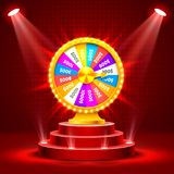 Wheel of fortune on the catwalk. Stock Image