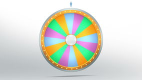 Wheel fortune with 16 color space. The wheel of fortune or Lucky spin animation was created by Three Dimensional. Video is included the alpha channel and motion Vector Illustration