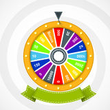 Wheel of fortune with curved banner Stock Photography