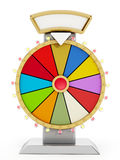 Wheel of fortune. 3D illustration. Wheel of fortune isolated on white background. 3D illustration vector illustration