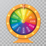 Wheel of fortune 3d object. Vector illustration on transparent background stock illustration