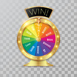 Wheel of fortune 3d object. Vector illustration on transparent background royalty free illustration