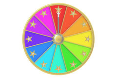 Wheel of fortune, 3D rendering Royalty Free Stock Images