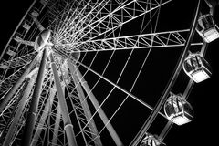 Wheel of Fortune. A depiction of wheel of Brisbane at night Stock Image