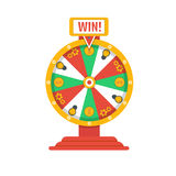 Wheel of fortune icon. Vector illustration. Wheel of fortune icon, roulette, vector Stock Images