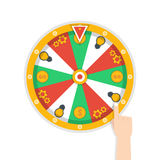 Wheel of fortune icon. Vector illustration. Wheel of fortune icon. Vector image Stock Photo