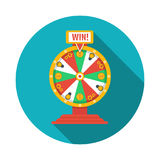 Wheel of fortune icon. Vector illustration. Wheel of fortune icon, vector image Royalty Free Stock Photo