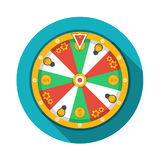 Wheel of fortune icon. Vector illustration. Wheel of fortune icon, vector Royalty Free Stock Image