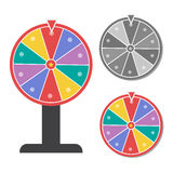Wheel of fortune  illustration in flat style eps10. Wheel of fortune  illustration in flat style eps 10 Royalty Free Stock Images