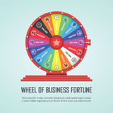 Wheel of fortune infographic design element Stock Photo