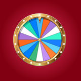 Wheel of fortune isolated Royalty Free Stock Photography
