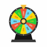Colorful Wheel Of Fortune lottery luck Royalty Free Stock Image