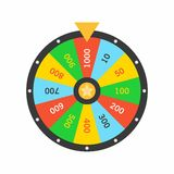 Colorful Wheel Of Fortune lottery luck Royalty Free Stock Photo