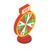 Wheel of fortune isometric icon. Vector illustration. Wheel of fortune isometric icon, vector Stock Photos