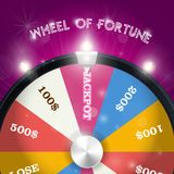 Wheel of fortune - jackpot sector, lottery win concept. Wheel of fortune - jackpot sector, lottery win and gamble concept royalty free illustration