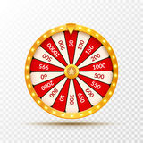 Wheel Of Fortune lottery luck illustration. Casino game of chance. Win fortune roulette. Gamble chance leisure.  Royalty Free Stock Photos