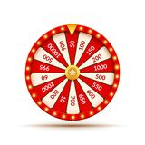 Wheel Of Fortune lottery luck illustration. Casino game of chance. Win fortune roulette. Gamble chance leisure.  royalty free illustration