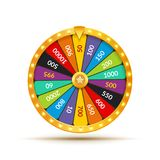 Wheel Of Fortune lottery luck illustration. Casino game of chance. Win fortune roulette. Gamble chance leisure.  stock illustration
