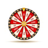 Wheel Of Fortune lottery luck illustration. Casino game of chance. Win fortune roulette. Gamble chance leisure.  vector illustration