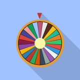 Wheel of Fortune luck flat icon Stock Image