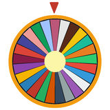Wheel of Fortune luck flat icon Stock Photography