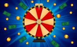 Wheel of Fortune, Lucky Icon with Place for Text. Vector Illustration. EPS10 Royalty Free Stock Photo