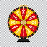Wheel of Fortune, Lucky Icon with Place for Text. Vector Illustration. EPS10 Stock Photography