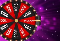 Wheel of Fortune, Lucky Icon with Place for Text. Vector Illustration. EPS10 Royalty Free Stock Photos