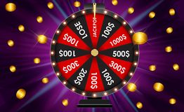 Wheel of Fortune, Lucky Icon with Place for Text. Vector Illustration. EPS10 Royalty Free Stock Image