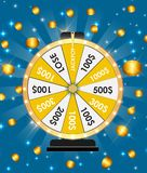 Wheel of Fortune, Lucky Icon with Place for Text. Vector Illustration. EPS10 Stock Image