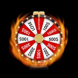 Wheel of Fortune, Lucky Icon with Place for Text. Vector Illustration. EPS10 Stock Photo