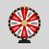 Wheel of Fortune, Lucky Icon on Transparent Background. Vector Illustration. EPS10 Stock Photography