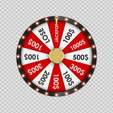 Wheel of Fortune, Lucky Icon on Transparent Background. Vector Illustration. EPS10 Stock Photo