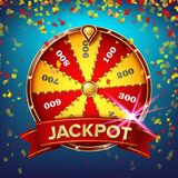Wheel Of Fortune Poster Vector. Gamble Chance Leisure. Realistic 3d Object. Lottery Design Brochure. Illustration. Fortune Wheel Banner Vector. Luck Sign stock illustration